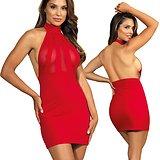 Robe Rouge partiellement Transparente