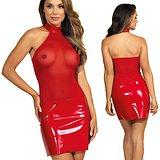 Robe Rouge Haut Transparent