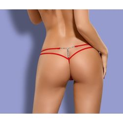 String Bijou Ceinture Double Rouge