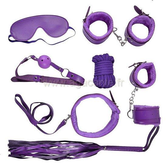 Lot Accessoires Violets Jeux de Soumission
