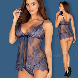 Nuisette Babydoll Bleue
