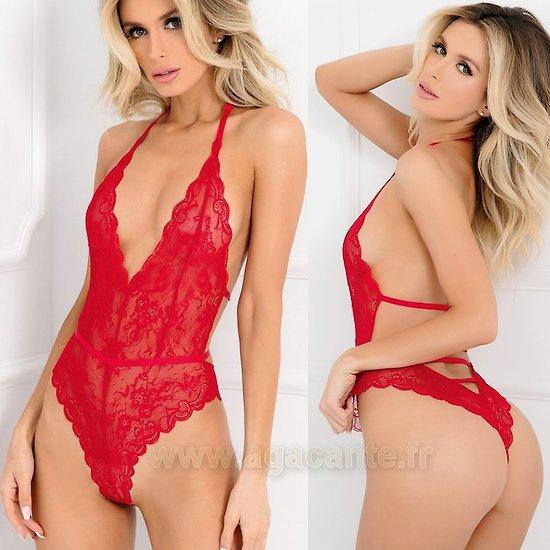 Body Echancré Rouge