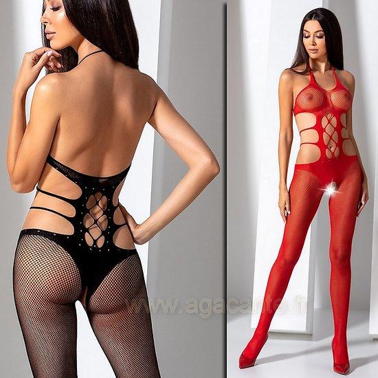 Combinaison Ajourée Rouge ou Noire