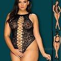 Body String Ouvert Noir