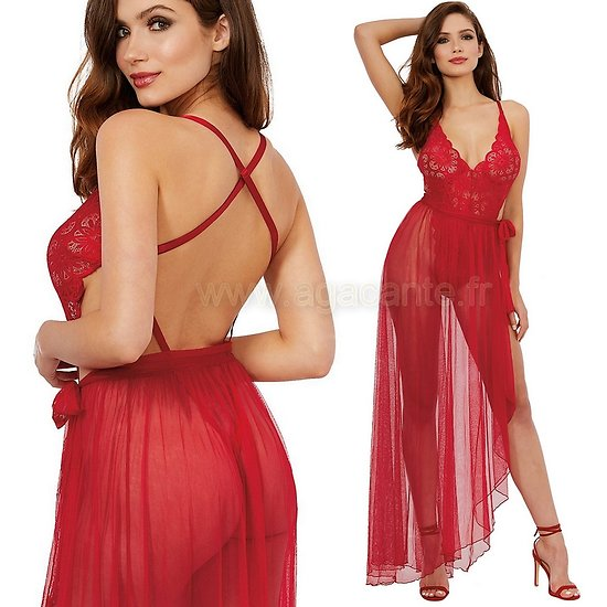 Body String Et Jupe Rouge