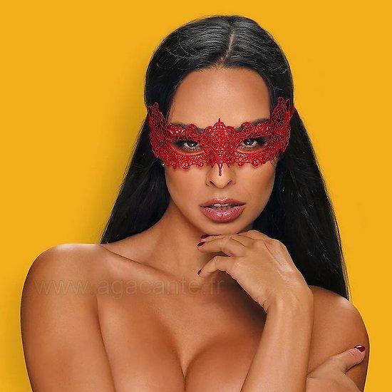 Masque Guipure Rouge