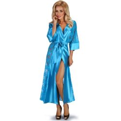 Peignoir Long Bleu Turquoise