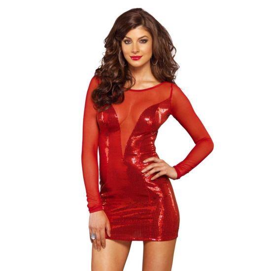 Mini Robe Rouge Festive