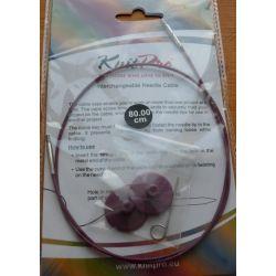 Cable 80cm pour aiguilles circulaires Knit Pro