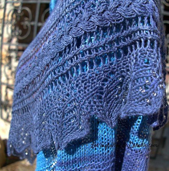 Kit tricot Châle Amour