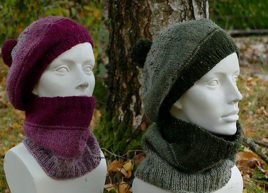 Kit tricot  Béret et Col Laroche