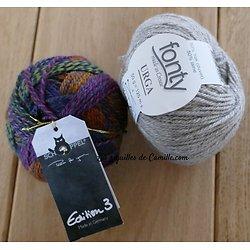 Kit tricot Bonnet Lune de Miel au Jardin
