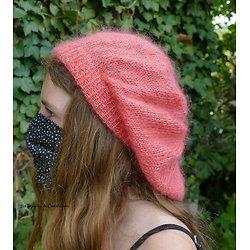 """Kit tricot bonnet """"Sur un petit nuage"""" algasoie unie"""
