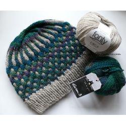 Kit Tricot Bonnet Lune de Miel sous les sapins