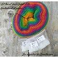 Kit tricot châle Soleil d'été Zauber Flower