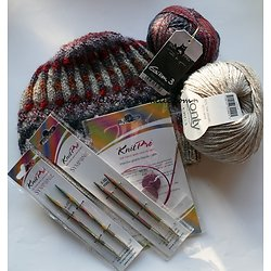 Kit Tricot Bonnet Lune de Miel Laine et Mercerie