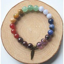 Bracelet chakra/feuille