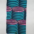 Coupon de tissu - Wax - Tonneaux - Bleu / Rose / Noir