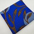 Pagne - Wax - Graphiques - Bleu / Orange / Noir