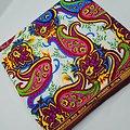 Pagne - Wax 100% coton - Graphiques - Blanc / Rose / Bleu