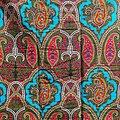Coupon de tissu - Wax 100% coton - Graphiques - Rose / Vert / Blanc