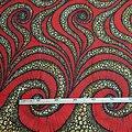 Coupon de tissu - Wax - Sylvie G - Rouge / Ocre / Marron