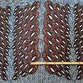 Coupon de tissu - Wax 100% coton - Paon - Maron / Bleu / Blanc