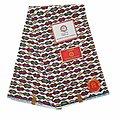 Pagne - Wax 100% coton - Kiss - Rouge / Jaune / Blanc