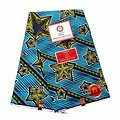 Pagne - Wax 100% coton - Wax 100% coton - Etoiles - Bleu / Vert / Noir