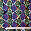 Coupon de tissu - Wax 100% coton - Psychédélique - Multi-couleurs