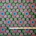 Pagne - Wax 100% coton - Fleurs - Rose - Bleu - Mauve