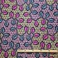 Pagne - Wax 100% coton - Bouches - Rose / Gris / Orange