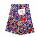 Coupon de tissu - Wax 100% coton - Bouches - Rose / Gris / Orange