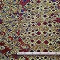 Pagne - Wax 100% coton - Graphiques - Jaune / Marron / Noir