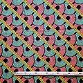 Pagne - Wax 100% coton - Méli-mélo - Saumon / Vert / Jaune