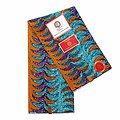 Coupon de tissu - Wax 100% coton - Graphiques - Orange / Bleu / Violet