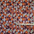 Pagne - Wax 100% coton - Graphiques - Orange / Bordeaux / Vert