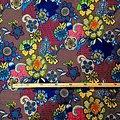 Coupon de tissu - Wax 100% coton - La ruche - Multi-couleurs foncées
