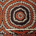Coupon de tissu - Wax 100% coton - Graphiques - Orange / Marron / Crème