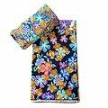 Pagne - Wax 100% coton - Fleurs - Multi-couleurs