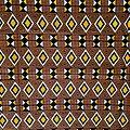 Pagne - Wax 100% coton - Graphiques - Marron / Jaune / Noir
