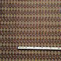 Coupon de tissu - Wax 100% coton - Graphiques - Marron / Jaune / Noir