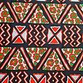 Pagne - Wax 100% coton - Graphiques - Orange / Vert / Noir