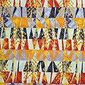 Pagne - Wax 100% coton - Graphiques - Orange / Rouge / Marron