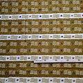 Coupon de tissu - Wax 100% coton - Graphiques - Kaki / Beige / Jaune
