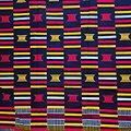 Coupon de tissu - Wax 100% coton - Graphiques - Rouge / Noir / Jaune