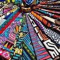 Wax 100% coton - Lot N°01 - 43 coupons de 50cm / 1m20