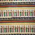 Coupon de tissu - Wax 100% coton - Porteuses de calebasses - Multi-couleurs