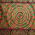 Pagne - Wax 100% coton - Graphiques - Rose / Vert / Beige