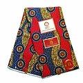 Pagne - Wax 100% coton - Graphiques - Bleu / Rose / Ocre